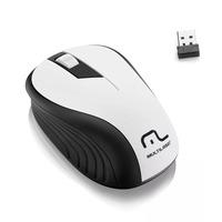 Mouse sem Fio Wave Multilaser Branco Anatômico - MO216