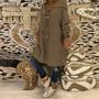 Casual Mulheres Inverno Moletom Tricotado Estacionar Sólido