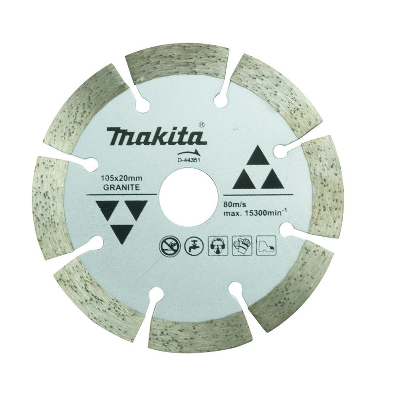 Disco Diamantado Segmentado 105mm Makita p/ Granito