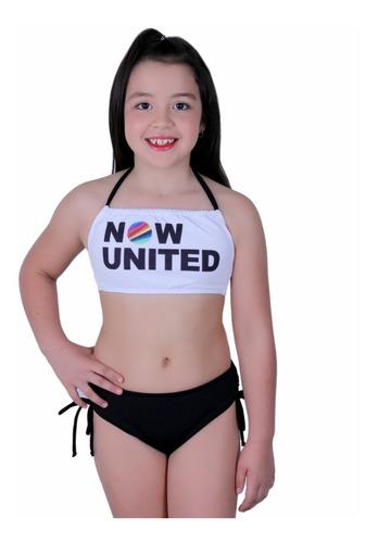 Biquini Infantil Now United Estampado E Colorido Moda Praia Original