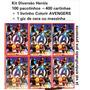 Kit Herois 100 Pacotinhos =400cartinhas colorir Avengers