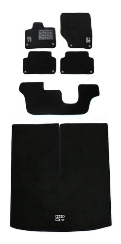 Tapetes Audi Q7 2005 À 2015 7 Lug Luxo +  Porta-malas Original