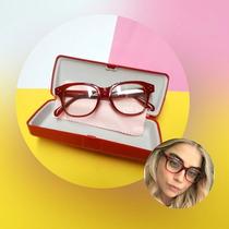 464846606 Armação De Óculos Retro Vintage Geek Feminina Vermelha Nova. R$ 79 ...