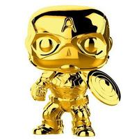 Capitão América Gold Chrome Pop Funko #377 - Marvel 10 Years Edition
