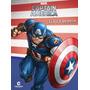 Livro Médio Ler E Colorir Capitão América