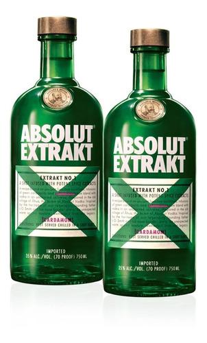 Kit Vodka Absolut Extrakt 750ml - 2 Unidades Original