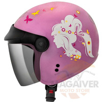 CAPACETE FLY ABERTO F-17 LADY ROSA/BRANCO