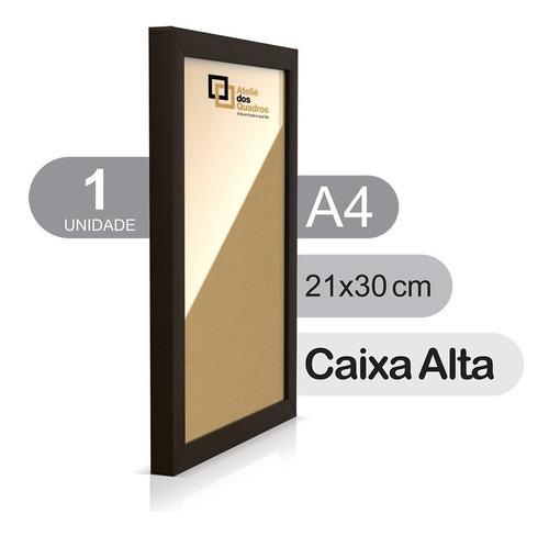 Quadro Moldura A4 21x30 Vidro Poster Caixa Alta Certificado Original