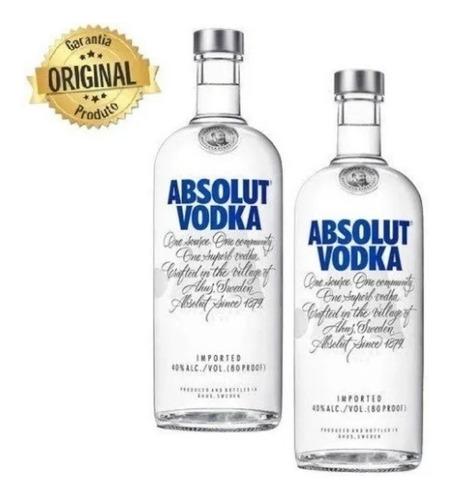 Kit Vodka Absolut 1l - 2 Unidades - Original