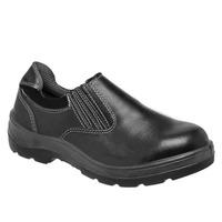 Sapato de Segurança Preto com Fechamento em Elástico Vaqueta Bota Brasil com Bico PVC  210-34