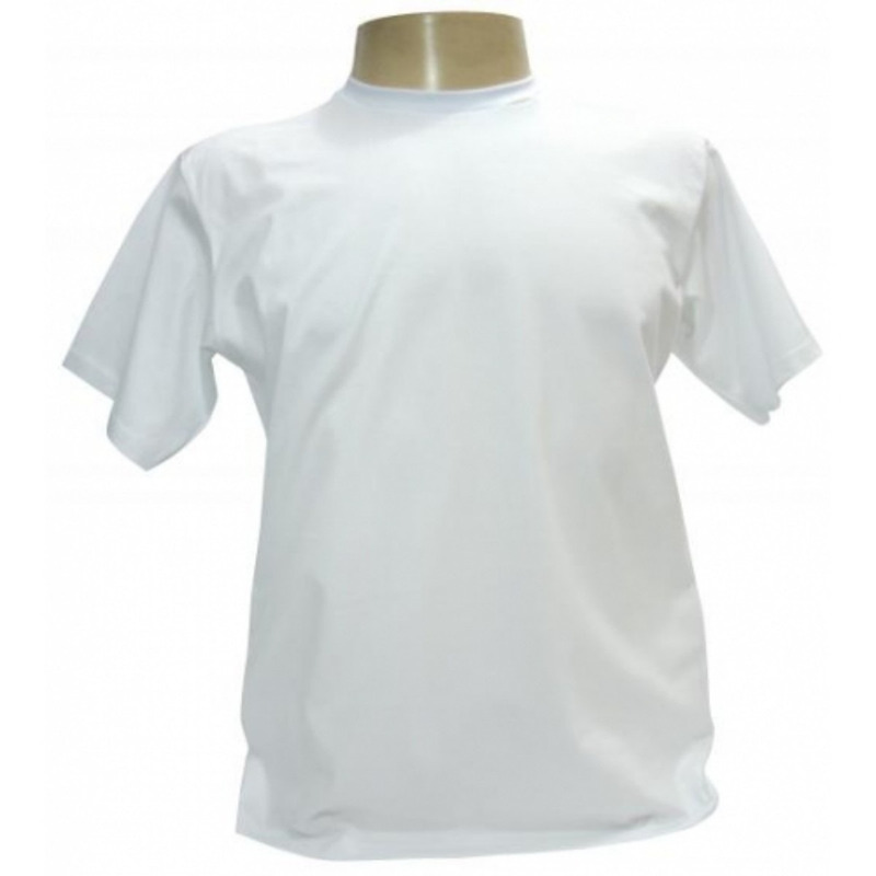 Camisa Branca Lisa  com Gola Olímpica