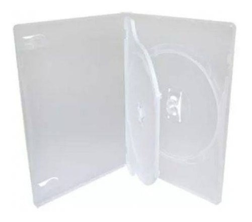 50 Estojo Capa Box Case Dvd Triplo Transparente Grosso 14 Mm Original
