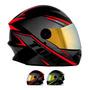 Capacete Moto Protork R8 Fechado Viseira Dourada Loi