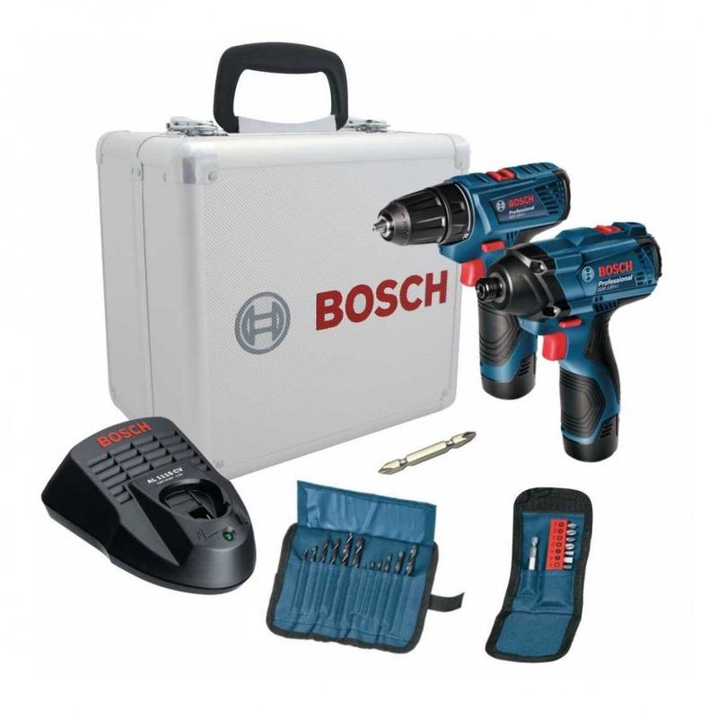 Furadeira / Parafusadeira 12v GDR120-Li / GSR120-Li + Maleta de Alumínio 06019F00E4000 Bosch - Bivolt
