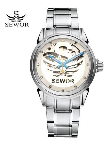 Relógio Masculino Automático Mecânico Sewor Homens Elegante Original
