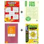 Kit 4 Sudoku Fácil Médio Dífícil Supersudoku Níveis Graduais