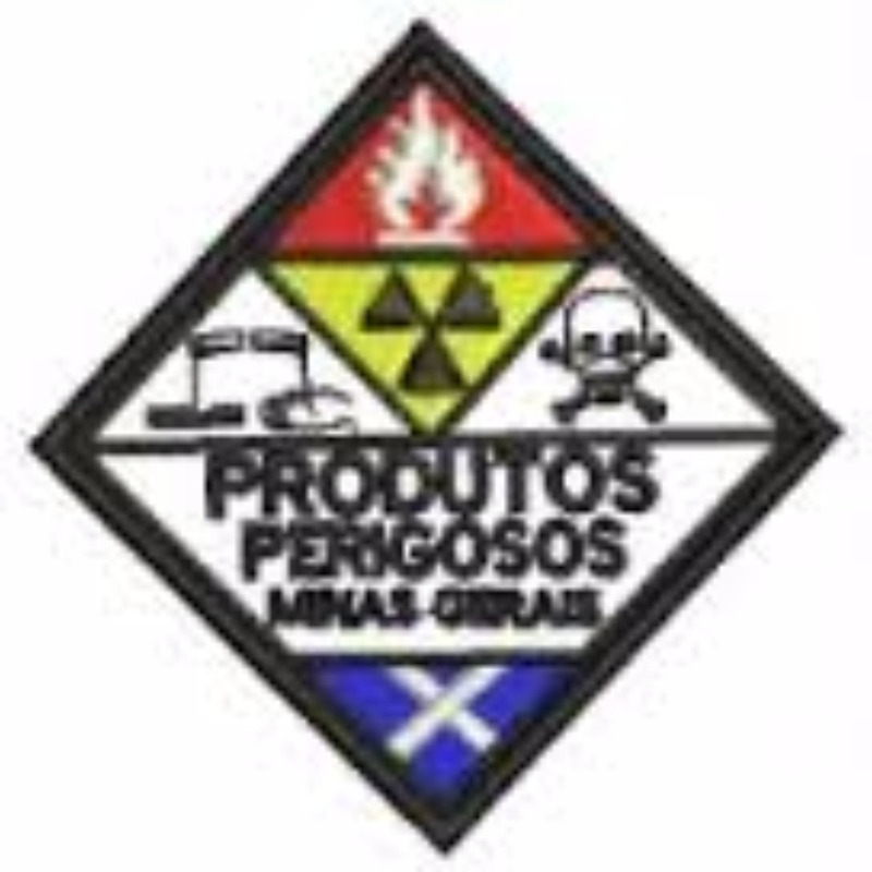 Patch / Distintivo Bordado Produtos Perigosos