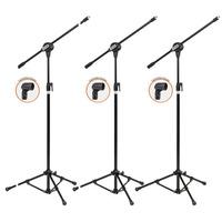 Kit Com 03 Pedestais Para Microfone