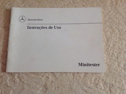 Manual De Instruções De Uso Do Minitester Mercedes Benz 1998 Original