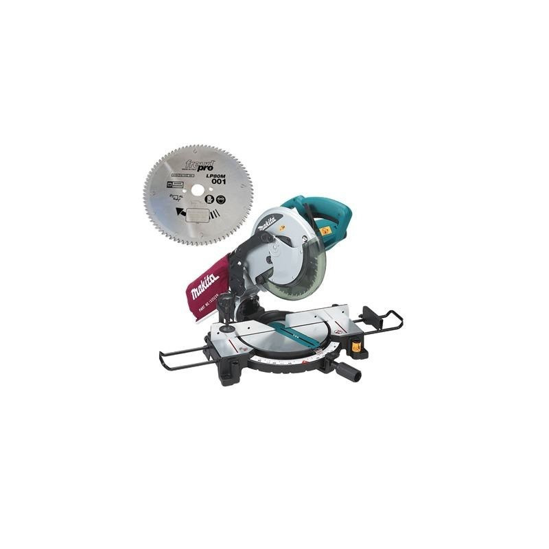 Serra de Esquadria 255mm 1500W MLS100 Makita + Disco de Serra para Alumínio - 110 Volts