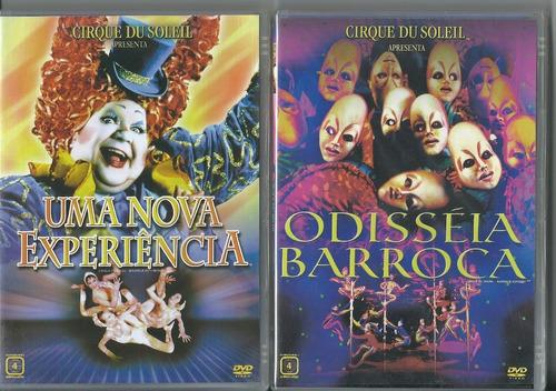 Dvd Cirque Du Soleil - Uma Nova Experiên + Odisséia Barroca Original