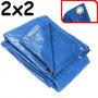 Lona Plastica Carreteiro 2x2m Com Ilhoes Impermeavel Azul