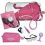 Kit De Enfermagem Completo Com Relógio Para Jaleco Pink