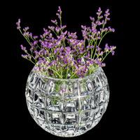Vaso De Cristal Rose 18X13,5Cm - Wolff 31025443