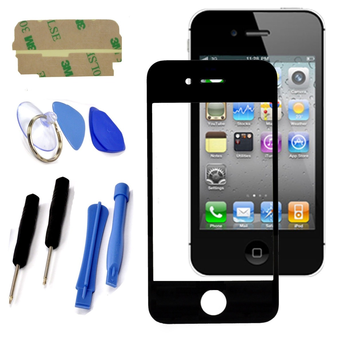 iphone repair pensacola tela vidro da frente iphone 4 a1332 preto kit chaves r 1332